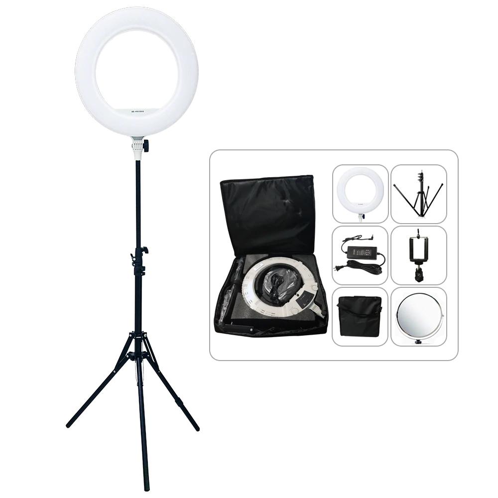 Кільцевий LED світло AX480S Bi-Color Світлодіодна кільцева лампа зі стійкою
