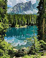 Картина рисование по номерам Идейка Загадочное озеро KH2270 40х50 см Пейзаж, природа набор для росписи краски,