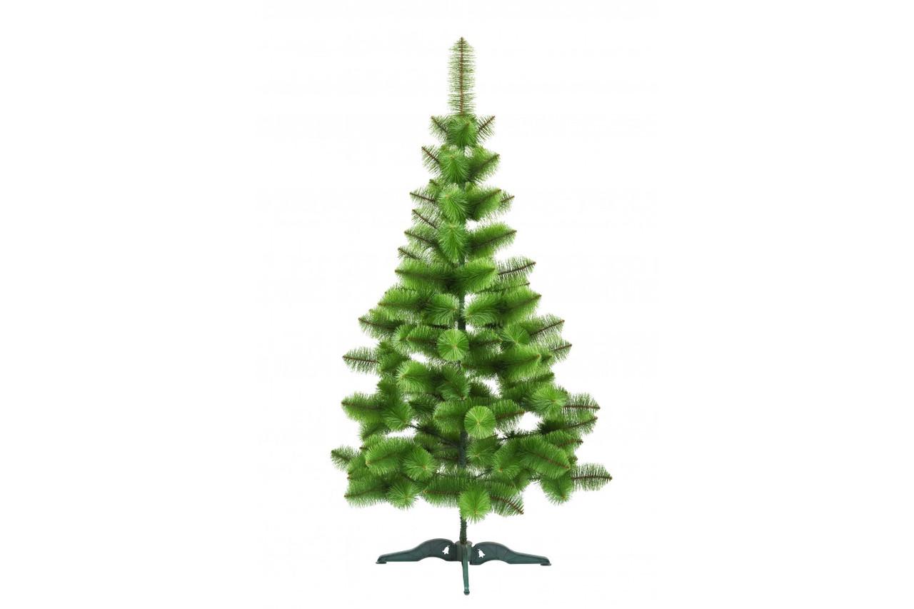 Сосна искусственная светло зеленая белые кончики 1,8 м, (028-0076)