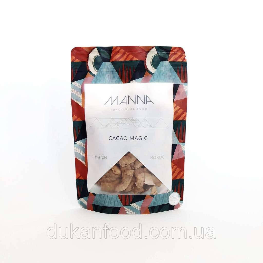 Чипсы MANNA Cacao Magic кокосовые 50 г СРОК ГОДНОСТИ ДО 25.11.2020