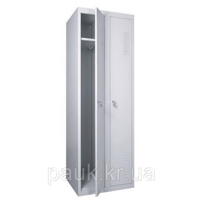 Шафа для одягу посилена ШОП-300/2, металева шафа для одягу
