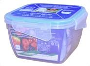Контейнер для пищевых продуктов с зажимом прямоугольный 0,9 л (прозрачный)