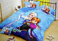 Детское постельное белье полуторка фланель / Постельное белье с Эльзой
