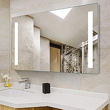 Зеркало DUSEL LED DE-M1041 80смх65см сенсорное включение+подогрев+часы-темп