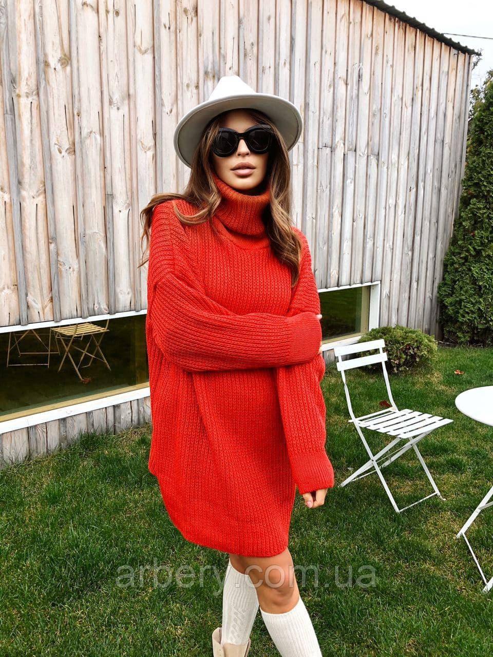 Шикарное вязанное платье-туника Oversize
