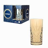 """Набор стаканов Luminarc Зальцбург """"Золотой мед"""" 380мл 4 шт. высокие, фото 1"""