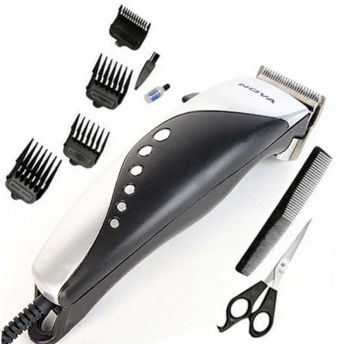 Профессиональная машинка - триммер для стрижки волос Gemei GM-1015 4 в 1 серая