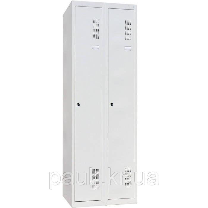 Шафа для одягу ШОМ-300/2, металева шафа на дві секції