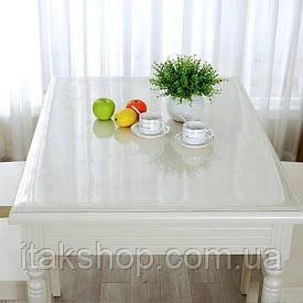 Скатерть Мягкое стекло для стола и мебели Soft Glass (2.0х1.5м) толщина 0.5 мм Прозрачная