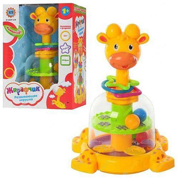 Детская игрушечная юла Жираф с погремушками SL83058-59-60   игрушка для самых маленьких