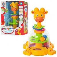 Детская игрушечная юла Жираф с погремушками SL83058-59-60   игрушка для самых маленьких, фото 1
