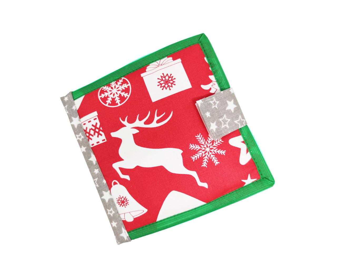 Новогодняя развивающая книжка из фетра для самых маленьких, 10 страниц/ Merry Cristmas