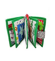 Новогодняя развивающая книжка из фетра для самых маленьких, 10 страниц/ Merry Cristmas, фото 2