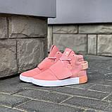 Кроссовки женские Adidas Tubular invader D5496 розовые теплые, фото 2