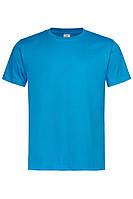 Футболка Stedman Classic Men мужская хлопковая 155 г/м2 светло-синяя