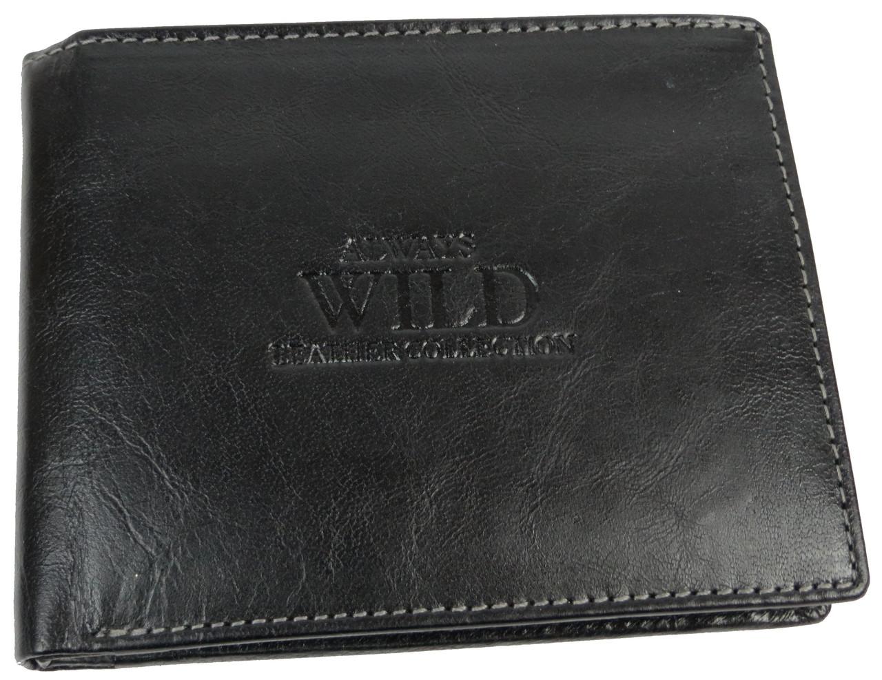 Кошелек мужской Always Wild кожаный Черный (SN7GT Black)