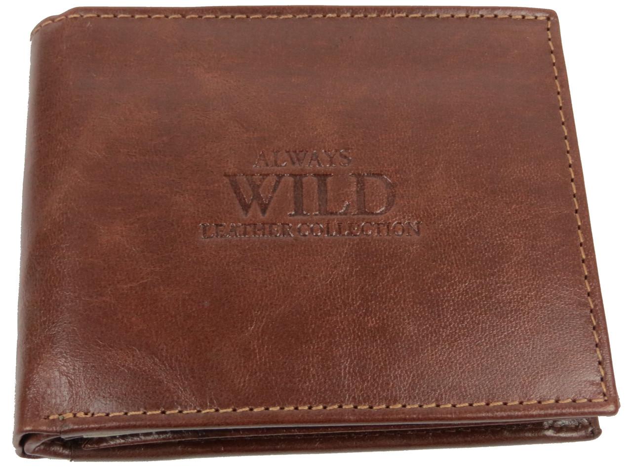 Кошелек мужской Always Wild кожаный Коричневый (SN992GT Brown)
