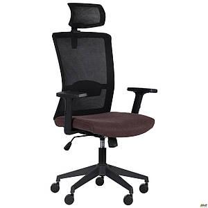 Кресло Uran Black HR сиденье Сидней-26/спинка Сетка SL-00 черная TM AMF