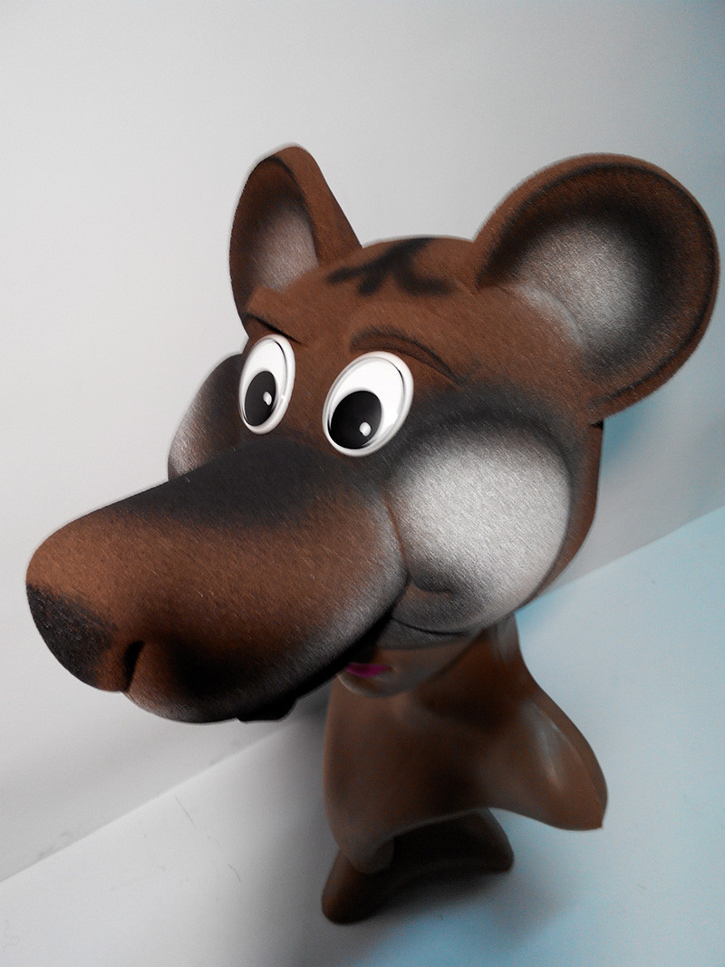 Карнавальная шапка Медведь из поролона для детей и взрослых