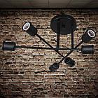 Черная люстра лофт на 6 ламп е27 без плафонов SM-9112/6, фото 2