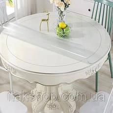 Скатерть Мягкое стекло для стола и мебели Soft Glass (2.9х1.5м) толщина 0.5 мм Прозрачная, фото 3