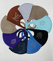 Багаторазова маска пітта, тканинна з камінням Мікс Україна (від 20 шт)