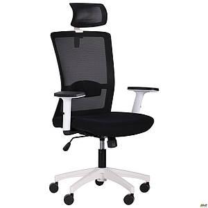 Кресло Uran White HR сиденье Сидней-07/спинка Сетка HY-100 черная TM AMF