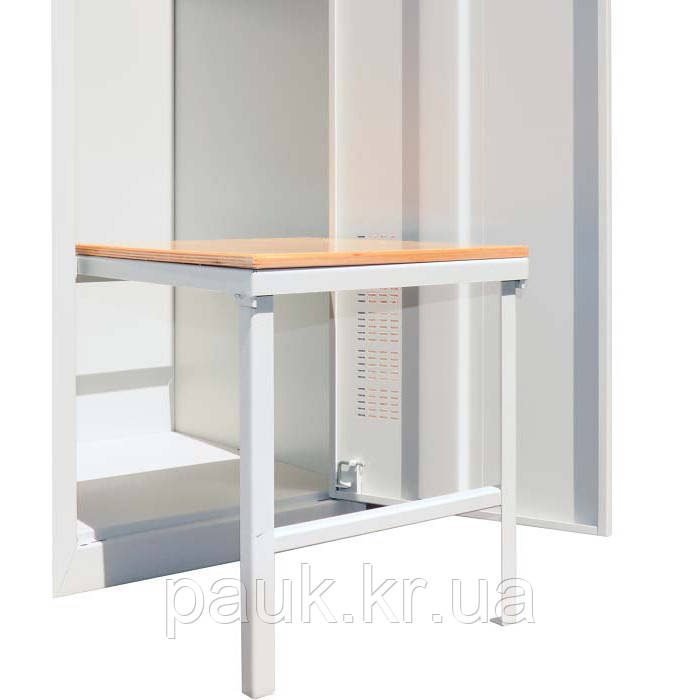 Лавочка в металлический шкаф СГ-300/1-о, лавочка для одежного шкафа