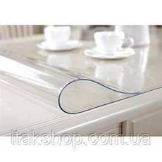 Скатерть Мягкое стекло для стола и мебели Soft Glass (3.0х1.5м) толщина 0.5 мм Прозрачная, фото 3