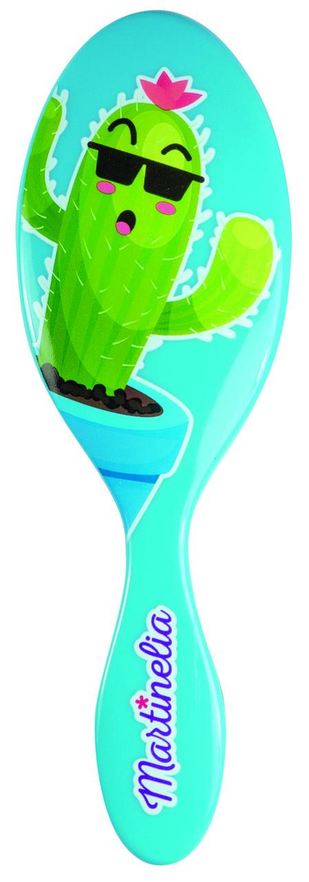 Гребінець для волосся дитячий кактус блакитний (3008W)