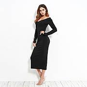 Платье длинное черное - 172-21