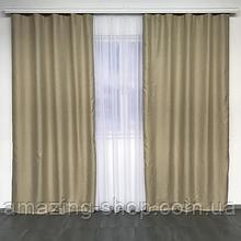 Солнцезащитные шторы  | Шторы из мешковины | Готовые шторы из льна | 100% защита от солнца | Бежевые шторы |