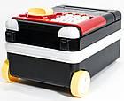 Сейф детский Супергерои чемодан на колёсах красно-чёрный   Копилка с купюроприемником, фото 3