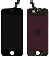 Дисплей Apple iPhone 5S, SE з тачскріном і рамкою, оригінал (Китай), чорний