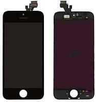 Дисплей Apple iPhone 5 з тачскріном і рамкою, оригінал (Китай), чорний