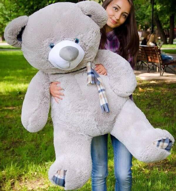 Плюшеві ведмеді Плюшевий ведмедик 1.4 МЕТРА, Сірий