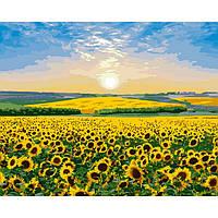 Картина по номерам 40х50см ТМ Идейка Подсолнуховый рай (КНО2282)