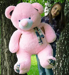 Плюшевые медведи Плюшевый медвежонок 1.4 МЕТРА, Розовый