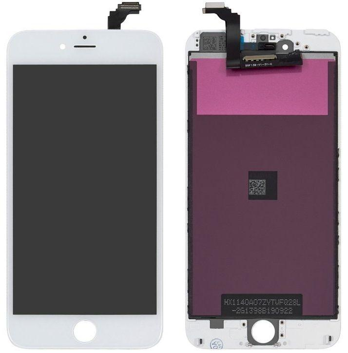 Дисплей (екран) для телефону Apple iPhone 6 Plus + Touchscreen (переклеено скло, original) White