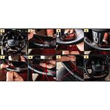 Обплетення, чохол на кермо, ШКІРА, 37-38см, чорна, фото 2