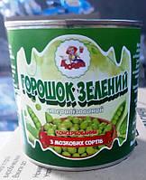 """Горошок зелений консервований 420г ж/б """"ЛЮБАВА"""" (1/12)"""