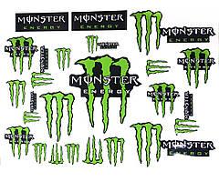 Наклейка лист А3 Monster Green