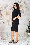 Женское платье на выход батал с 48 по 58 рр турецкий трикотаж + пайетки, фото 7