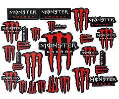Наклейка лист А3 Monster Red
