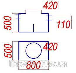 Сепаратор жира с отстойником 2л/сек.