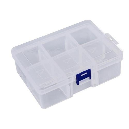 Коробка органайзер кейс для снастей бісеру 155х115х47мм 6 клітинок
