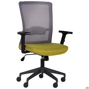 Кресло Uran Black сиденье Сидней-17/спинка Сетка HY-109 серая TM AMF