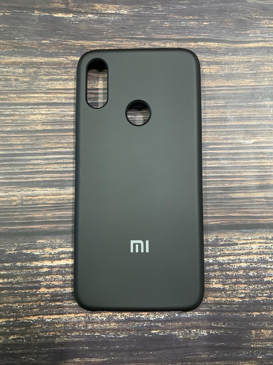 "Чехол Silicon Xiaomi Redmi Note 7 - ""Черный №18"""