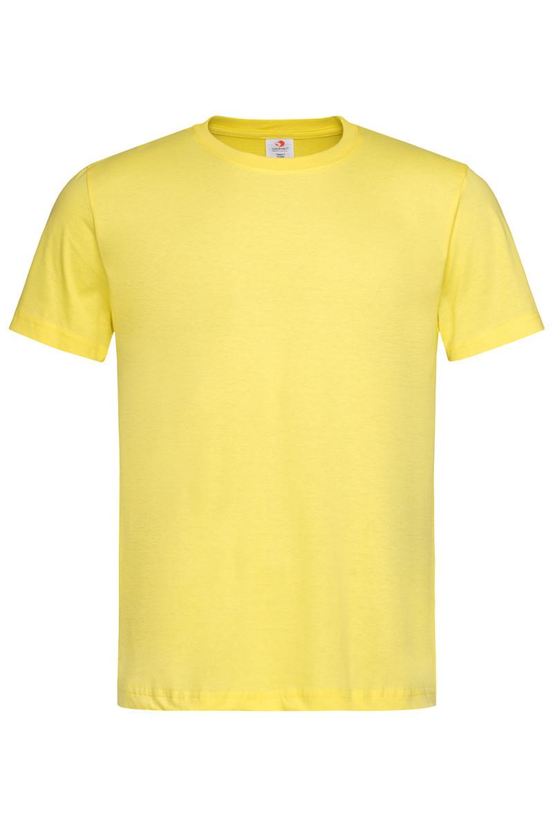 Футболка Stedman Classic Men мужская хлопковая 155 г/м2 светло-жёлтая