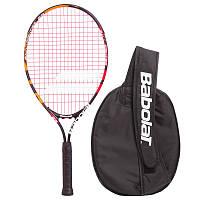 Ракетка для професійного великого тенісу юніорська дитяча BABOLAT 23 дюйма Чорна (140136-144)
